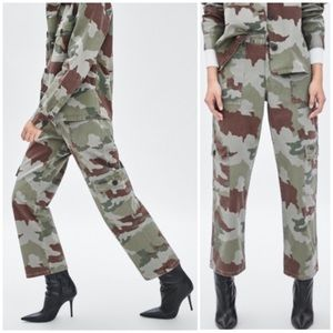 NWT Zara Camo Print Cargo Pants - Sz 6